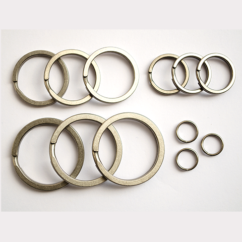 12 Titanium Key Rings Set
