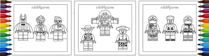 Minifigures Coloring Drawings