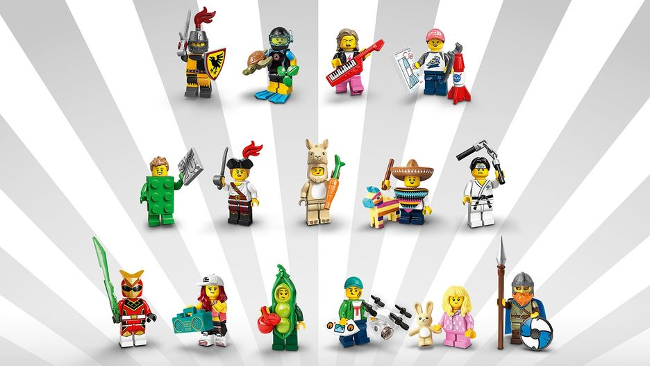 LEGO Minifigures Series 20 LEGO Minifigures Complete Collection of 16 Minifigures