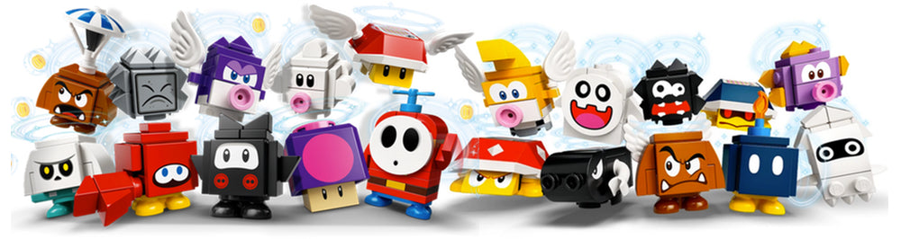 Lego Super Mario Character Packs and Frames