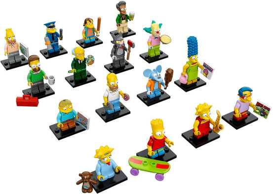 The Simpsons Series 1 Complete Collection 16 LEGO Minifigures 71005