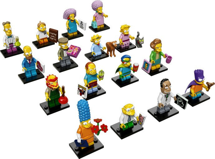 The Simpsons Series 2 Complete Collection 16 LEGO Minifigures 71009