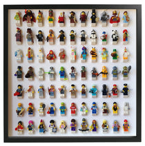 Black Display Frame for 77 Lego Minifigures
