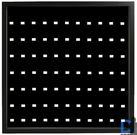 77 Lego Minifigures black Edition black frame display