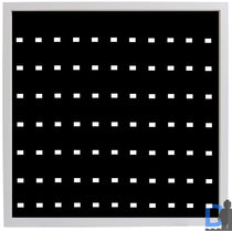 Black Edition White Display Frame for 77 Lego® Minifigures