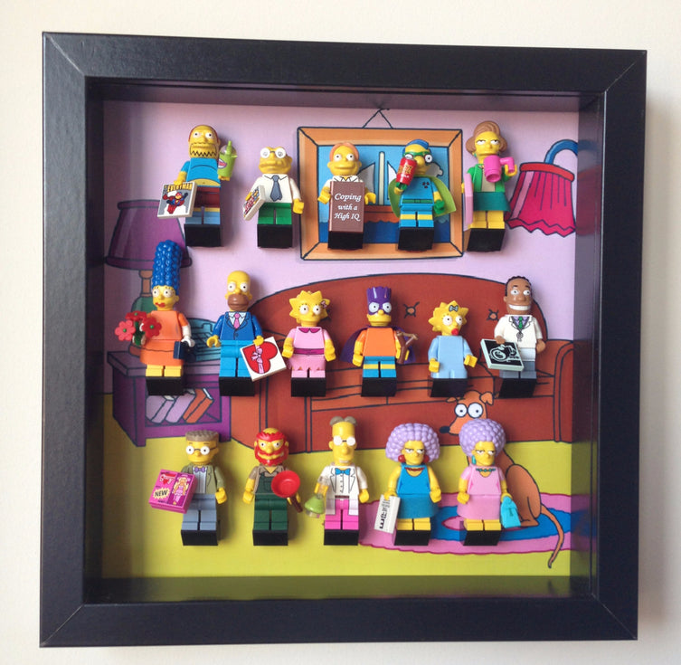 Lego Minifigures Display Frame House background  Lego Simpsons Min...
