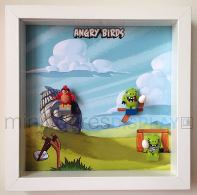Display Frame for Lego® Angry Birds Minifigures (model 1)