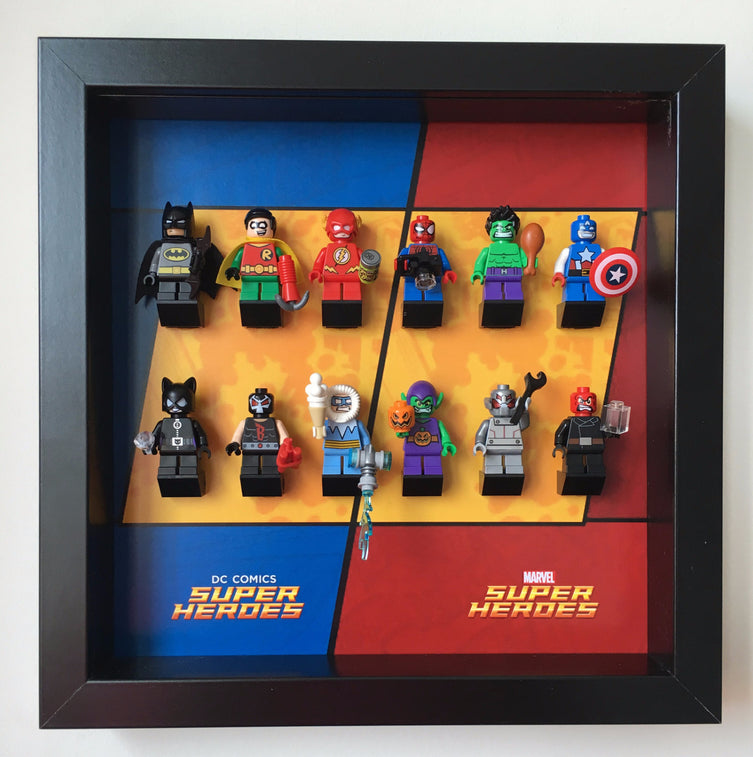 Lego Minifigures Display Frame  for Lego Mighty Micros DC / Marvel...