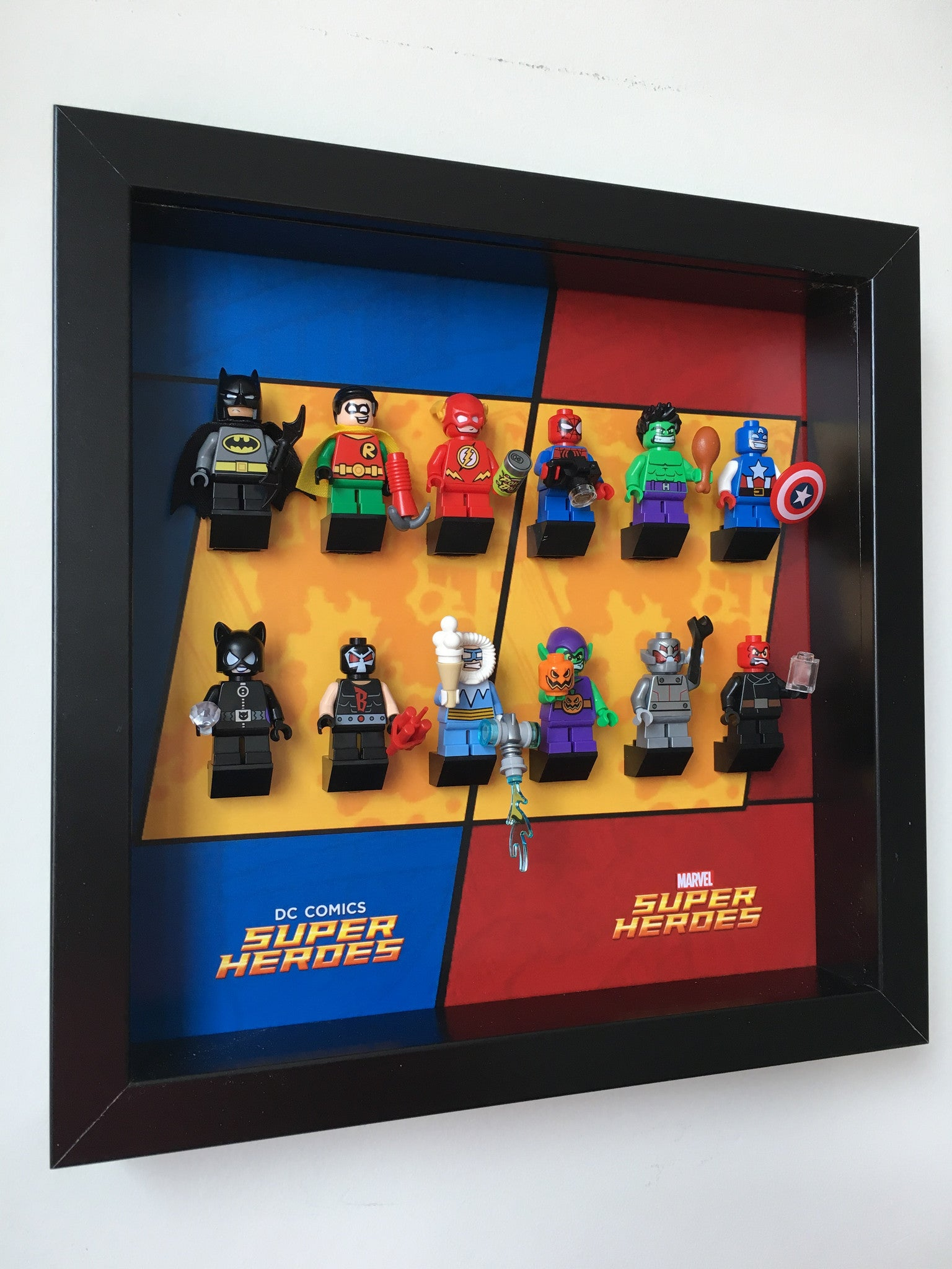 Lego Mighty Micros Frame Display Dc Marvel Super Heroes