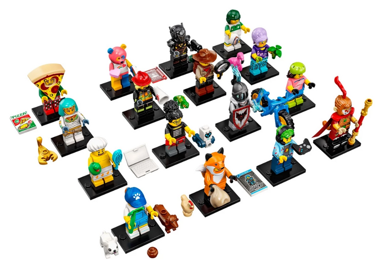 Series 19 Complete Collection 16 LEGO Minifigures 71025