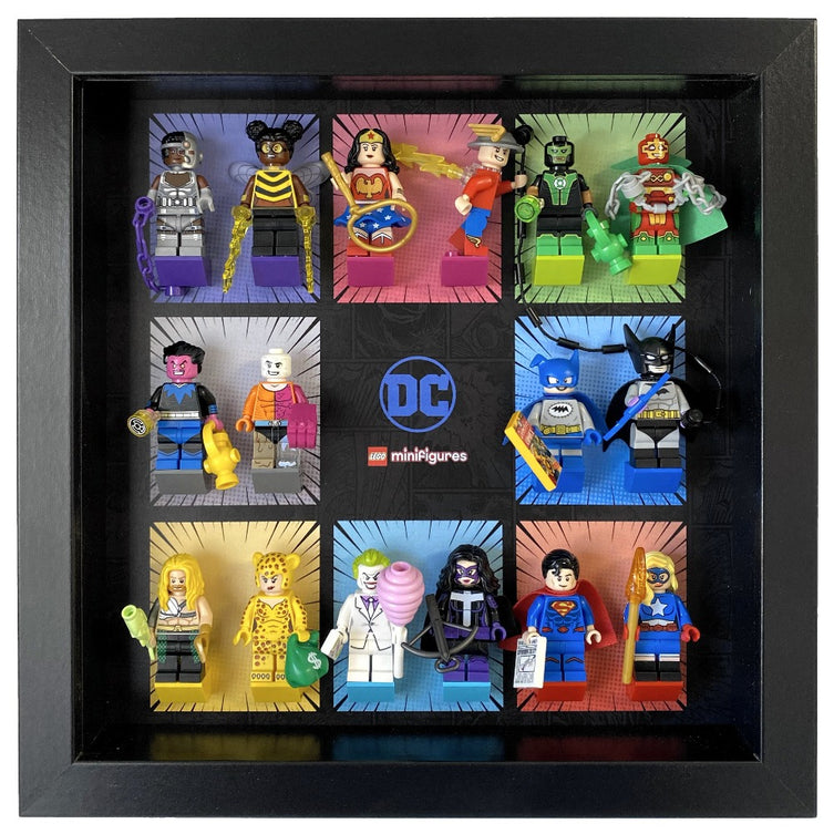 Lego Minifigures Display Frame  Lego DC Super Heroes Minifigures S...