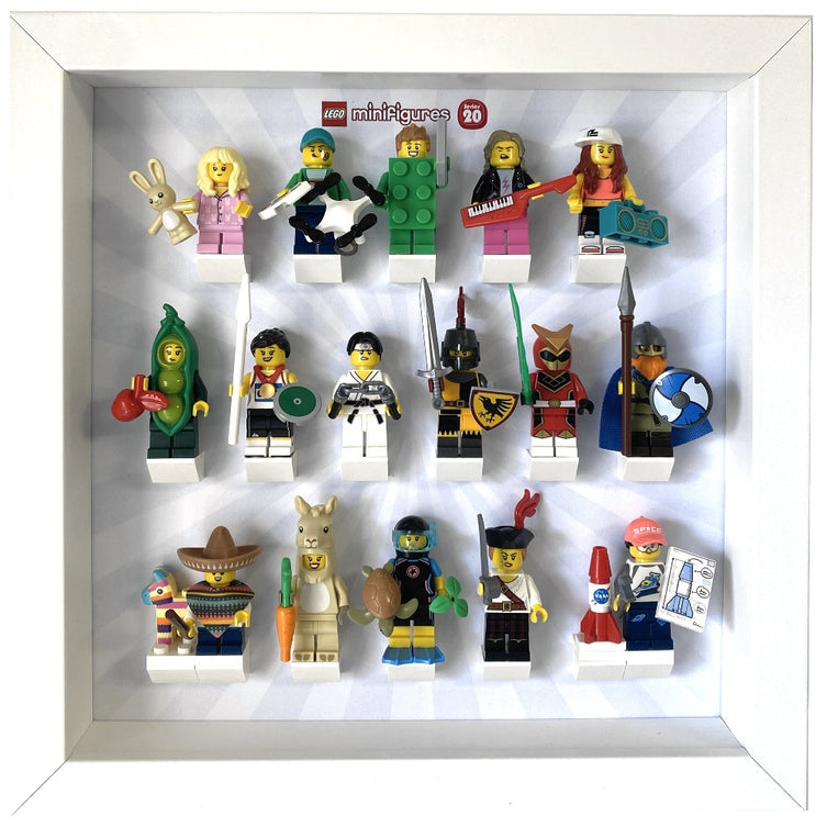 Lego Minifigures Display Frame  Lego Minifigures series 1 to 20