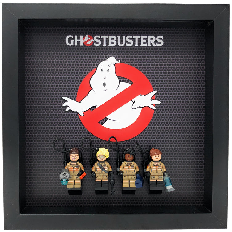Lego Minifigures Display Frame  Lego Ghostbusters Ecto-1 & 2 M...