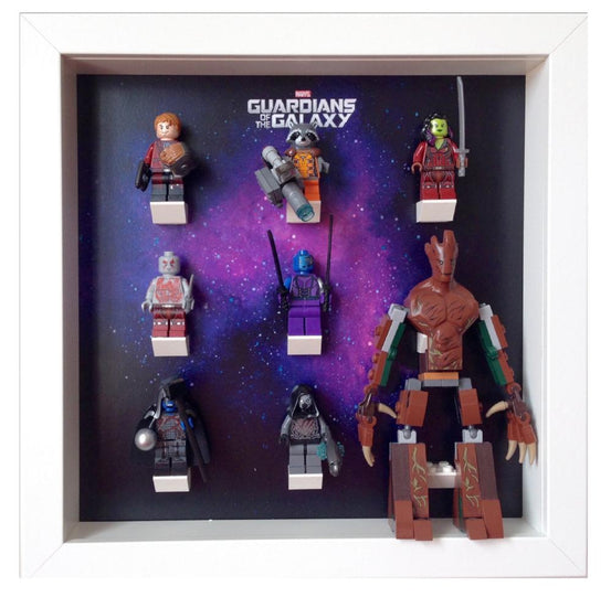 Lego Minifigures Display Frame  Lego Guardians of Galaxy Minifigures