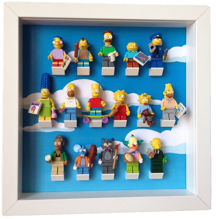Lego Minifigures Display Frame  Lego Simpsons series Minifigures
