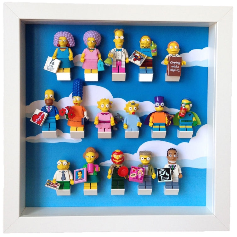 Lego Minifigures Display Frame  Lego Simpsons Series 2 Minifigures