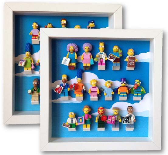 Special Pack of x2 Frames for Lego® Simpsons Minifigures (series 1-2)