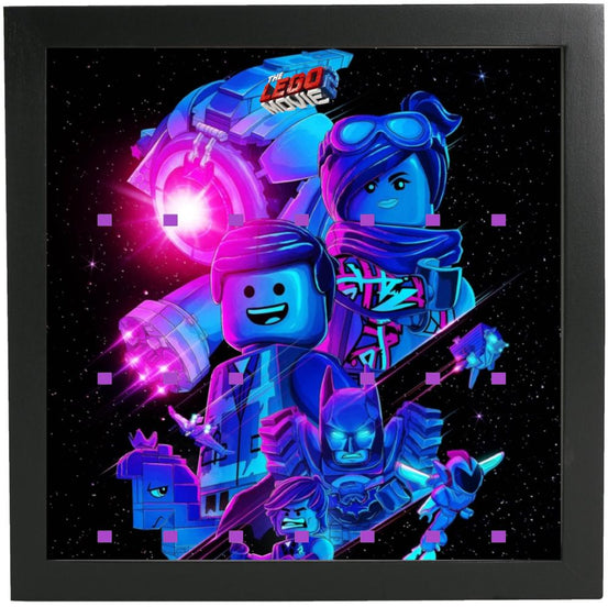 Lego Minifigures Display Frame Galaxy  The Lego Movie 2 Minifigures