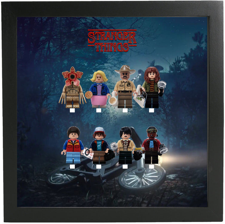 Lego Minifigures Display Frame Will lost  Lego Stranger Things Min...