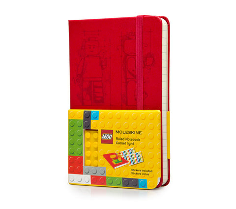 LEGO Moleskine - Limited Edition Notebook - Pocket - Ruled - Scarlet Red