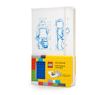 LEGO Moleskine - Limited Edition Notebook - Larget - Ruled - White