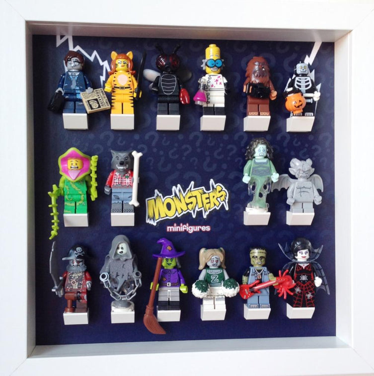 Lego Minifigures Display Frame  Lego Monsters series 14 Minifigures