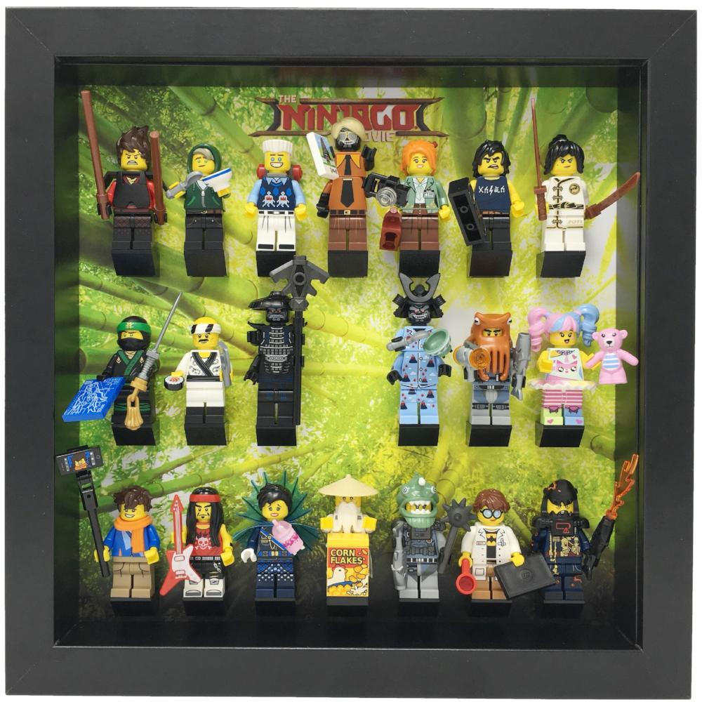 Lego The Ninjago Movie Series Minifigures Display Case Frame  mini figures