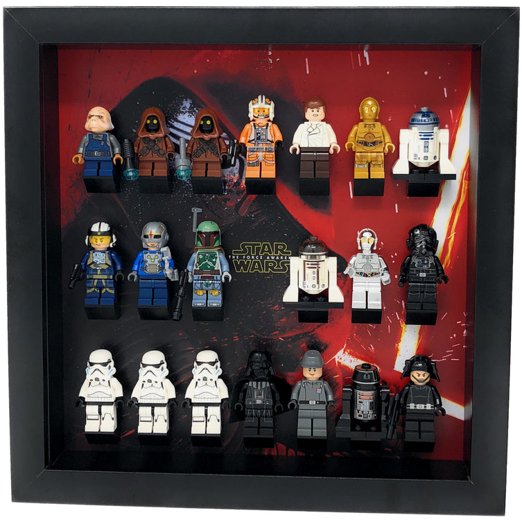 Lego Minifigures Display Frame The Force Awakens  Lego Star Wars M...