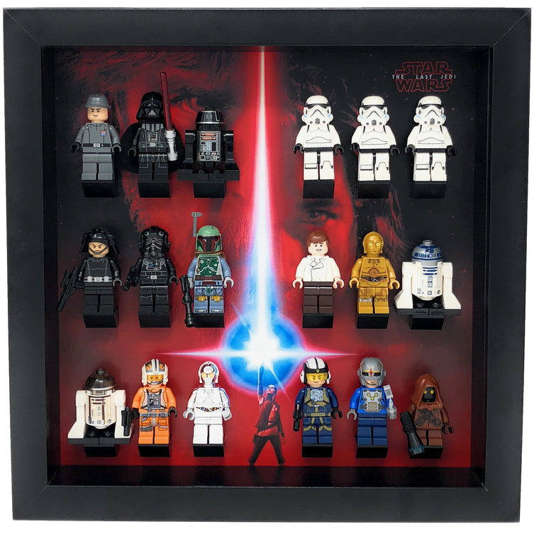 Lego Minifigures Display Frame The Last Jedi  Lego Star Wars Minif...