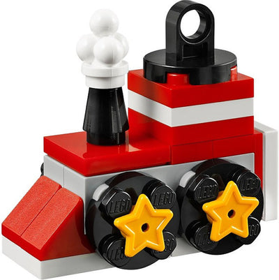 Train Christmas Tree Ornament built/based in Lego® 5002813