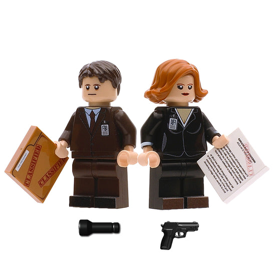 The X-Files Mulder & Scully Lego Minifigures