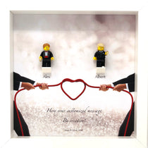 Lego custom Mr & Mr Wedding Gift Frame