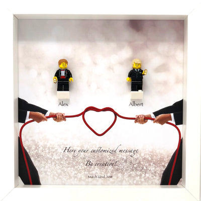Wedding Frame with Lego® Minifigures (Mr & Mr)