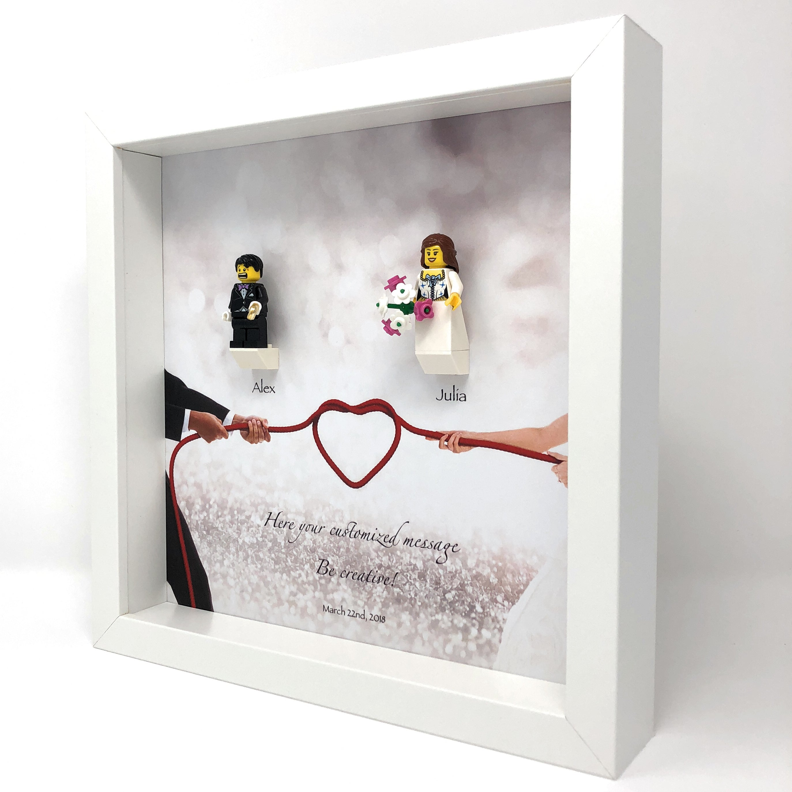 Wedding Frame With Minifigures Mr Mrs Display Frames For Lego