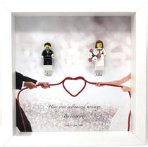 Wedding Frame with Lego® Minifigures (Mr & Mrs)