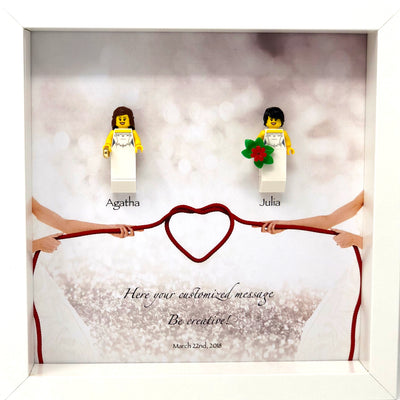 Wedding Frame with Lego® Minifigures (Mrs & Mrs)