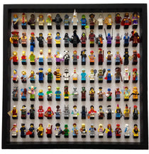 105 Lego Minifigures black frame display