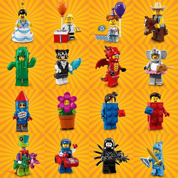 Series 18 Complete Collection 16 LEGO Minifigures 71021 ...