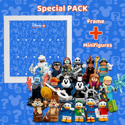 Special Pack: Disney Series 2 Lego Minifigures Complete Collection + Frame