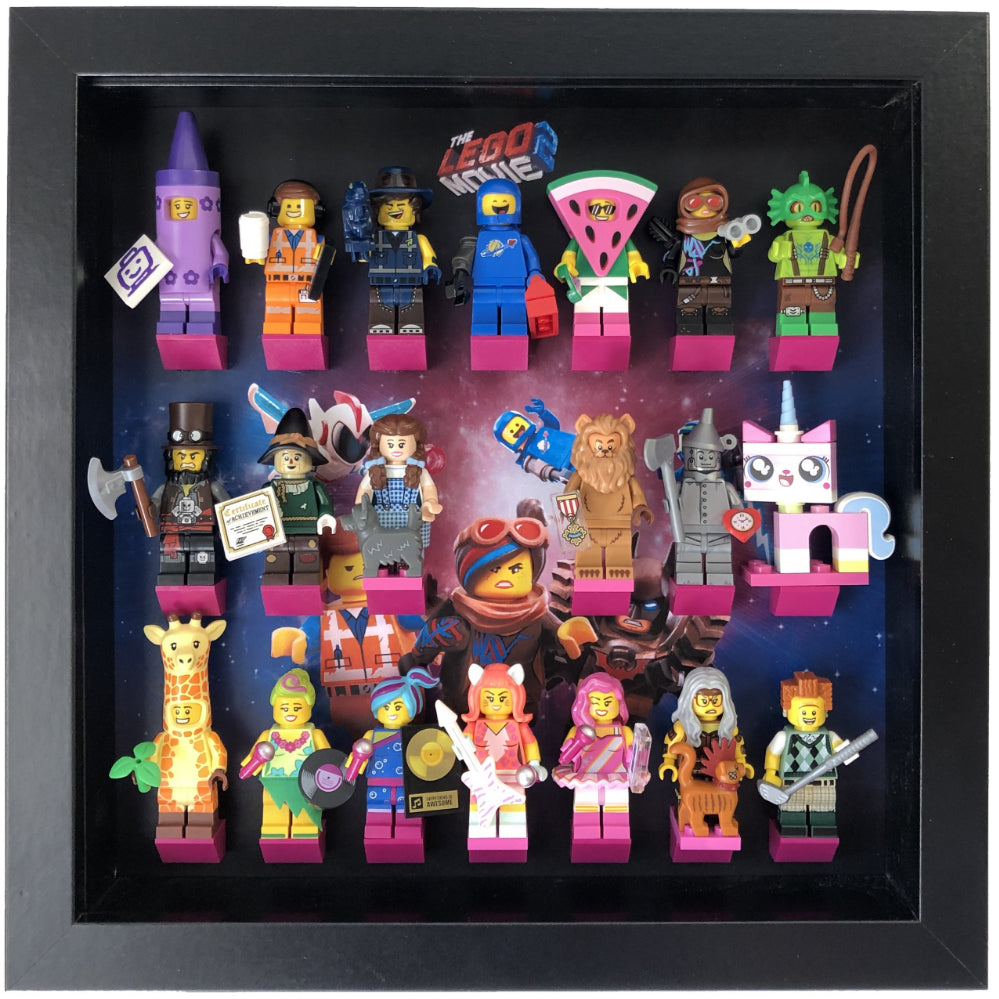 Frame For The Lego Movie 2 Minifigures Display Frames For Lego Minifigures