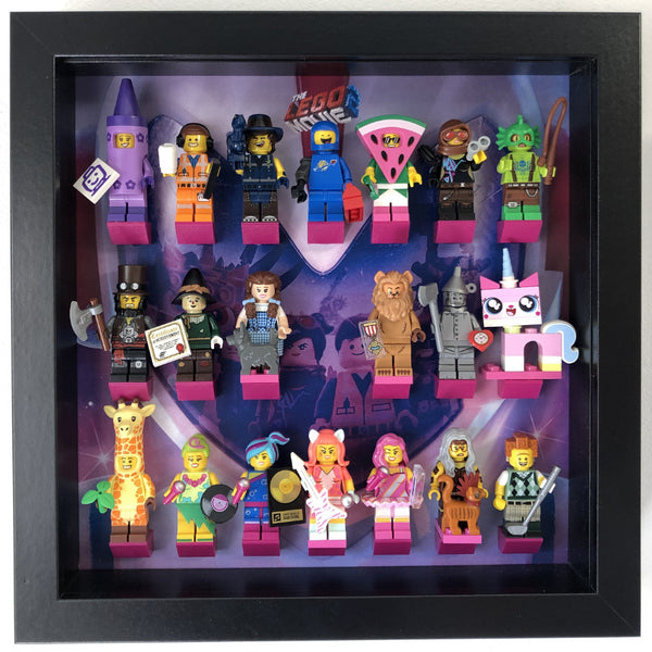 Minifigure Display Case Frame Wizard of Oz Lego Movie 2 71023 minifig figures