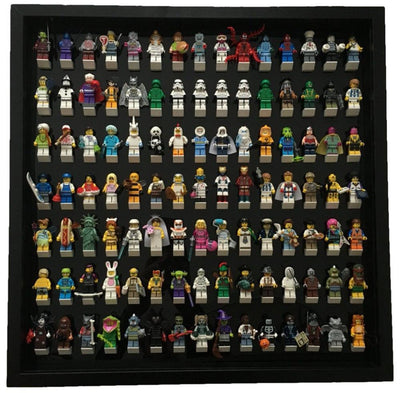 Black Edition Black Display Frame for 105 Lego Minifigures