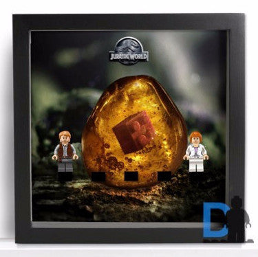 Lego Minifigures Display Frame Amber background  Lego Jurassic Wor...