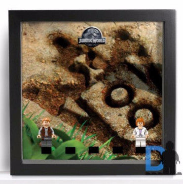 Dinosaur footprint background Frame for Lego® Jurassic World Minifigures