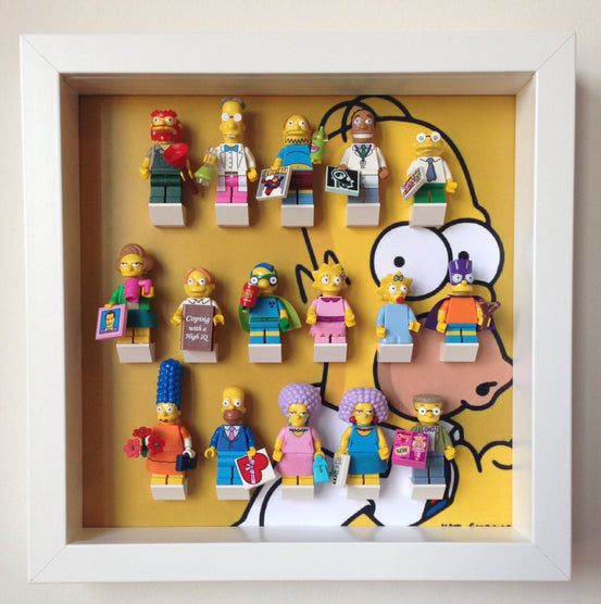 Lego Minifigures Display Frame Homer Simpson  Lego Minifigures