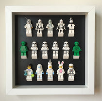 Black Edition Custom White Display Frame for Lego® Minifigures