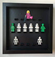 Black Edition Custom Black Display Frame for Lego® Minifigures