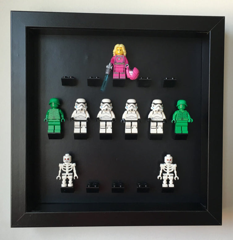 Lego Minifigures Display Frame Black Edition Custom Black  for Leg...