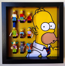 Lego Homer Simpsons minifigures frame