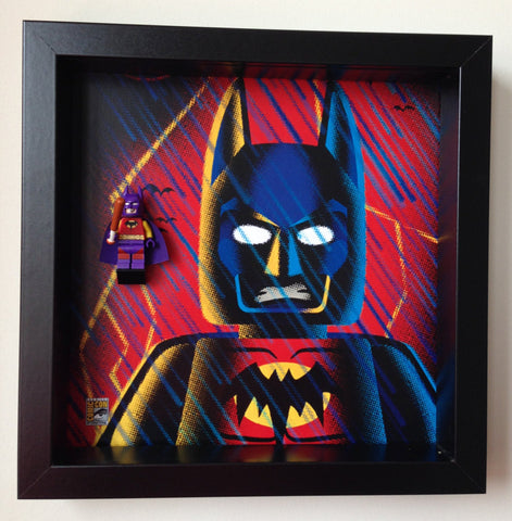 lego batman of zur en arrh minifigure frame comic con special edition